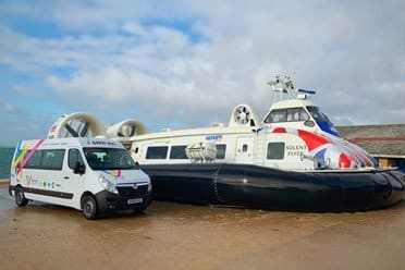 Wessex Cancer Trust and Hovertravel launch safe travel charter
