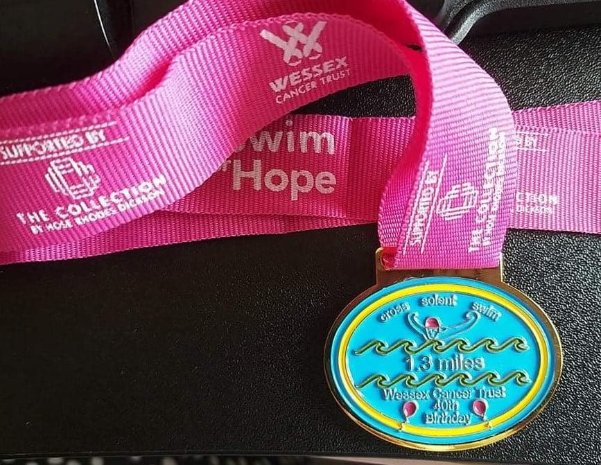 Swim for Hope medal