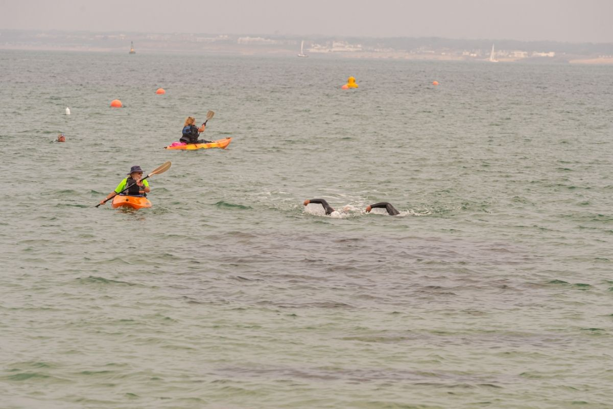 Swimmers in the Solent